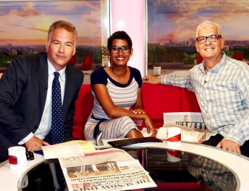Record Producer Steve Levine appears on BBC Breakfast