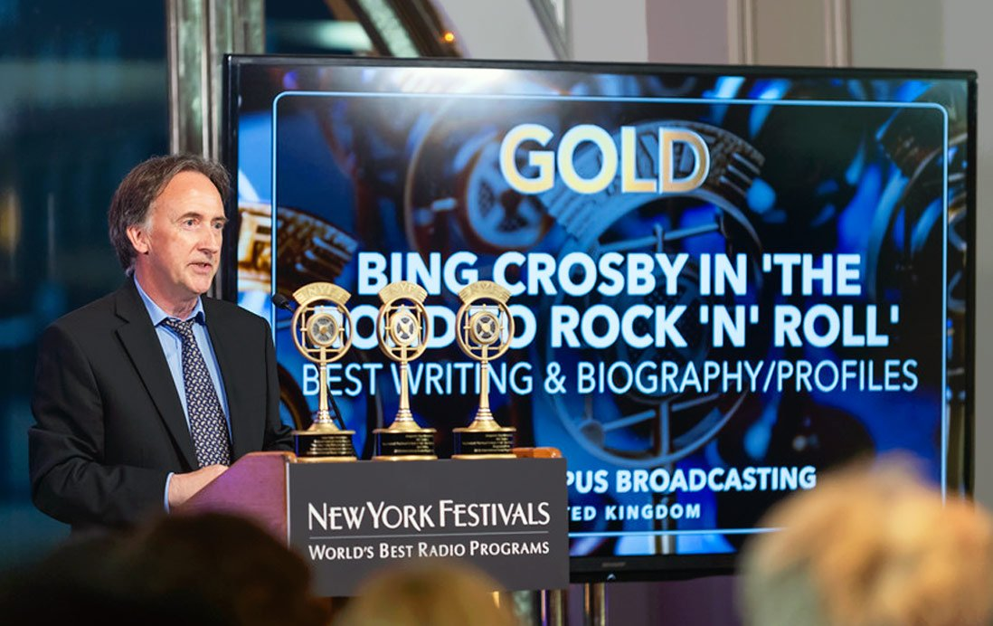 New York Festivals Radio Awards 2018 Bing Crosby Steve Levine BBC2 Show Lewis Borg-Cadona | Magnum Opus Broadcasting