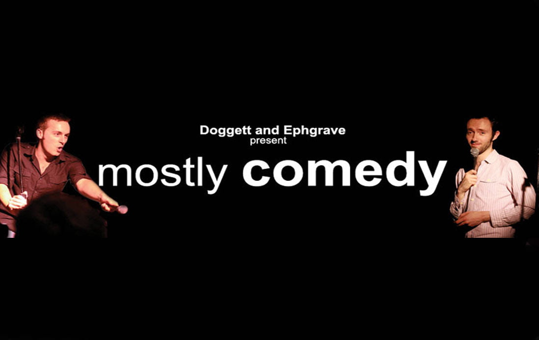 Tony Slattery at Mostly Comedy, Hitchin   Tony Slattery Agent   Tony Slattery comedian with Doggett and Ephgrave   Spring Day   Allan Lear   Who's Line is it Anyway