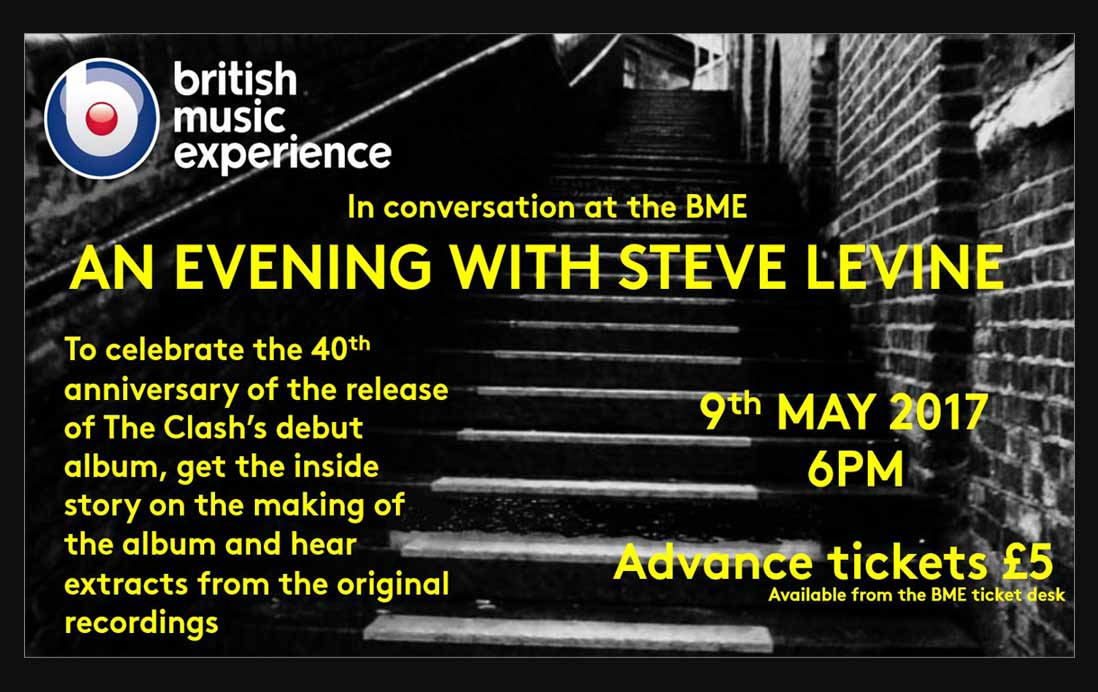 Steve Levine Producer talks about The Clash at the British Music Experience, Liverpool